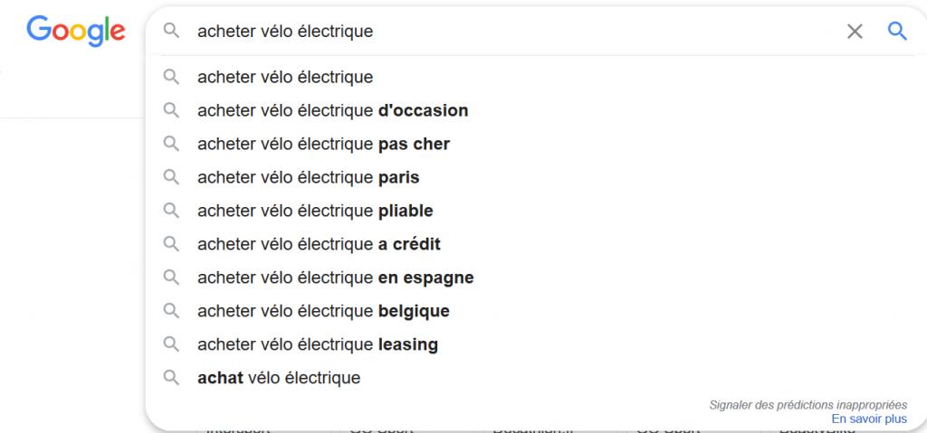 Google Suggest et longue traîne