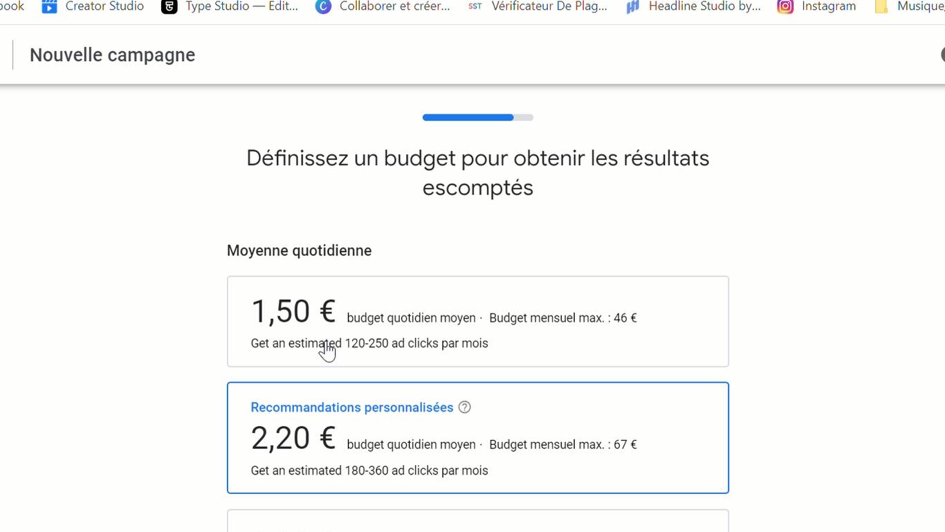 La sélection du budget