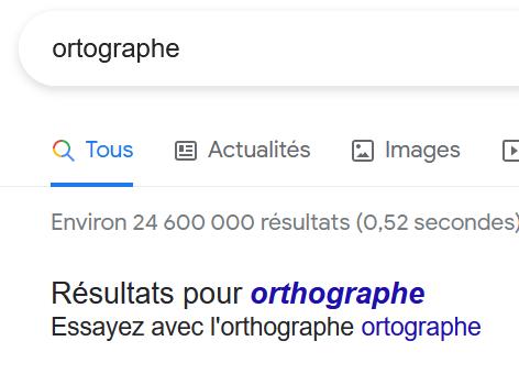 Google pour vérifier votre orthographe en rédaction web