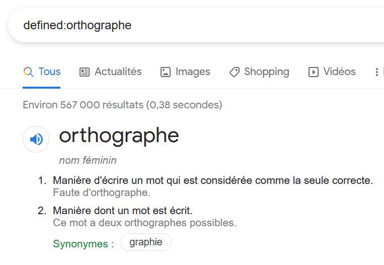 Google_votre dictionnaire en rédaction web